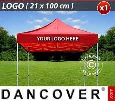 1 Stampa logo 21x100cm sulla frangia del FleXtents, centrata