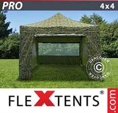 Tenda per racing PRO 4x4m Camouflage, inclusi 4 fianchi