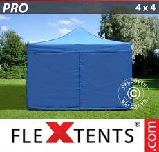 Tenda per racing PRO 4x4m Blu, incl. 4 fianchi