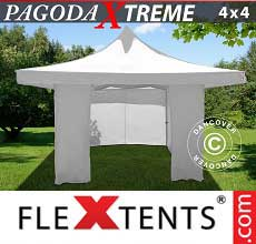 Tenda per racing Pagoda Xtreme 4x4m / (5x5m) Bianco, inclusi 4…