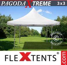 Tenda per racing Pagoda Xtreme 3x3m / (4x4m) Bianco