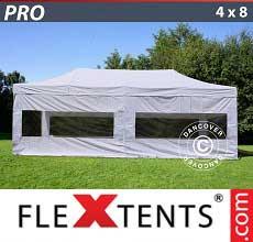 Tenda per racing PRO 4x8m Bianco, inclusi 6 fianchi