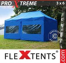 Tenda per racing Xtreme 3x6m Blu, incl 6 fianchi