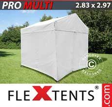 Tenda per racing Multi 2,83x2,97m Bianco, incl. 4 fianchi