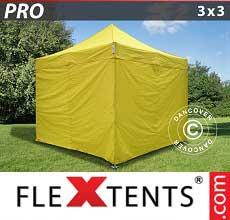 Tenda per racing PRO 3x3m Giallo, inclusi 4 fianchi
