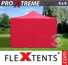 Tenda per racing Xtreme 4x4m Rosso, inclusi 4 fianchi