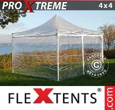 Tenda per racing Xtreme 4x4m Trasparente, inclusi 4 fianchi