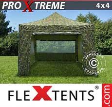 Tenda per racing Xtreme 4x4m Camouflage, inclusi 4 fianchi