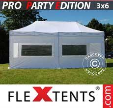 Tenda per racing PRO 3x6m Bianco, inclusi 6 fianchi