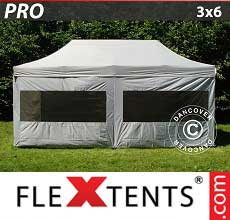 Tenda per racing PRO 3x6m argento, inclusi 6 fianchi