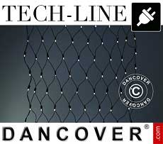 Rete LED Tech-Line, 1,2x1,2m, Bianco caldo