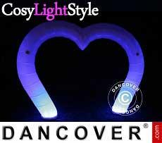 Luce gonfiabile, LED, Cuore