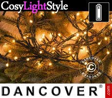 Catena luminosa con 140 lampadine LED, multifunzione, 10,5m, luce bianca calda…