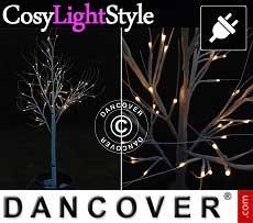 Betulla di luci LED decorativa, 1,5m, luce bianca calda, 72 LED