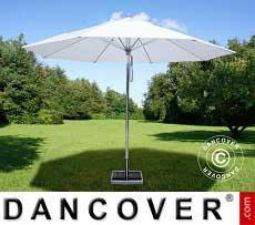 Ombrellone Bermuda, 3,5m, Bianco, incl. Base ombrellone