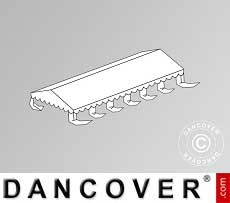Copertura del tetto per il Tendone per feste Exclusive 6x12m PVC, Bianco