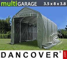Tenda magazzino multiGarage 3,5x8x3x3,8m, Verde
