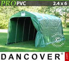 Tenda magazzino PRO 2,4x6x2,34m PVC, Verde