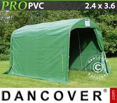Tenda magazzino PRO 2,4x3,6x2,34m PVC, Verde