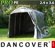 Tenda magazzino PRO 2,4x3,6x2,34m PE, Grigio