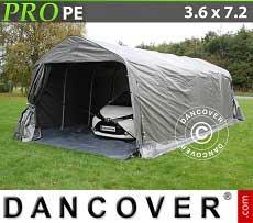 Tenda garage PRO 3,6x7,2x2,68m PE con pavimento