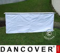 Panello laterale per bancone FleXtents PRO, 3m, Bianco