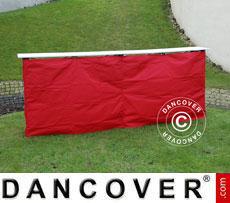 Panello laterale per bancone FleXtents PRO, 3m, Rosso