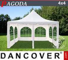 Tendone per feste Pagoda 4x4m, Toni di bianco