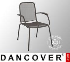 Sedia con braccioli, Lopo, 60,5x71x,83,5, 4 pz., Grigio Ghisa