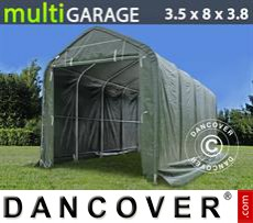 Capannone tenda multiGarage 3,5x8x3x3,8m, Verde