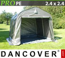 Capannone tenda PRO 2,4x2,4x2m PE, con pavimento, Grigio