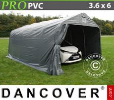Capannone tenda PRO 3,6x6x2,68m PVC, Grigio