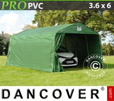 Capannone tenda PRO 3,6x6x2,68m PVC, Verde