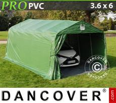 Capannone tenda PRO 3,6x6x2,68m PVC, con pavimento, Verde/Grigio