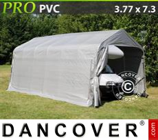 Capannone tenda PRO 3,77x7,3x3,24m PVC, Grigio