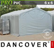 Capannone tenda PRO 6x6x3,7m PVC, Grigio