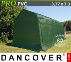 Capannone tenda PRO 3,77x7,3x3,24m PVC, Verde