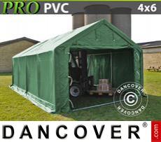 Capannone tenda PRO 4x6x2x3,1m, PVC, Verde
