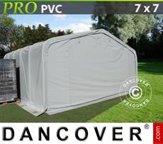 Capannone tenda PRO 7x7x3,8m PVC, Grigio