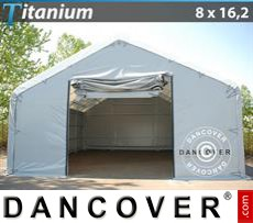 Capannone tenda Titanium 8x16,2x3x5m, Bianco / Grigio
