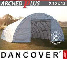 Capannone tenda 9,15x12x4,5m PVC, Bianco