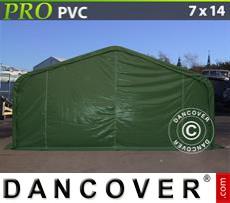 Capannone tenda PRO 7x14x3,8m PVC, Verde