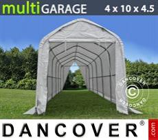 Capannone tenda multiGarage 4x10x3,5x4,5m, Bianco