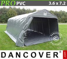 Capannone tenda PRO 3,6x7,2x2,68m PVC, con pavimento, Grigio