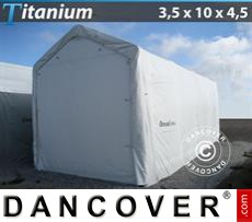 Capannone tenda Titanium 3,5x10x3,5x4,5m, Bianco