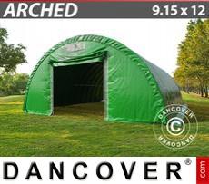 Capannone tenda 9,15x12x4,5m, PVC Verde