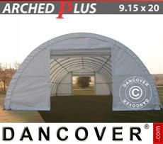 Capannone tenda 9,15x20x4,5m PVC, Bianco