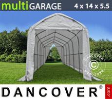 Capannone tenda multiGarage 4x14x4,5x5,5m, Bianco