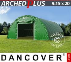 Capannone tenda 9,15x20x4,5m PVC, Verde
