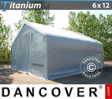 Capannone tenda Titanium 6x12x3,5x5,5m, Bianco / Grigio